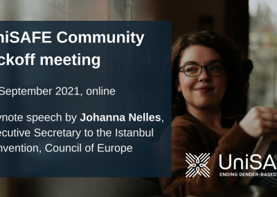 Executive Secretary to the Istanbul Convention to deliver keynote speech at the UniSAFE Community meeting